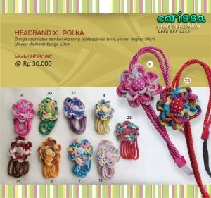 headband xl polka