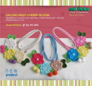 kalung rajut cherry bloom